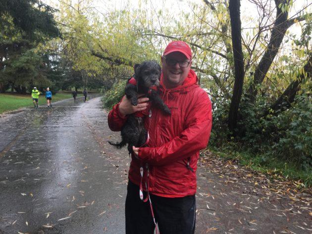 Daniel and Rufus at Green Lake.