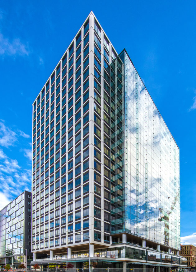 Amazon has leased the entirety of this office building in Seattle's Denny Triangle neighborhood. Credit: Trammell Crow Co.