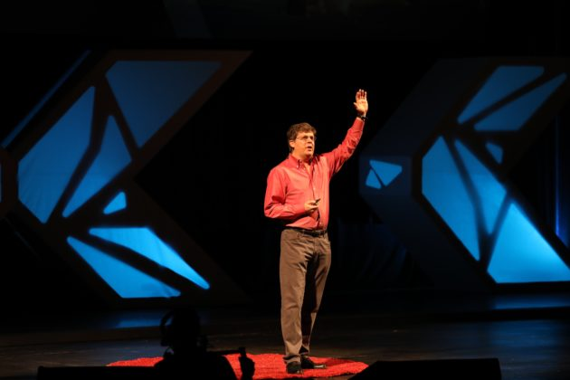 Oren Etzioni speaking about the risks and benefits of artificial intelligence at TEDxSeattle on November 19, 2016. (TEDxSeattle Photo)