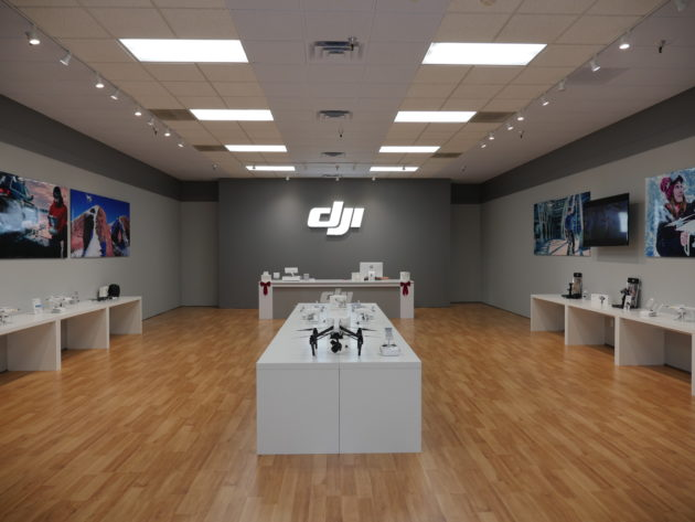 Inside the new DJI store. (DJI Photo)