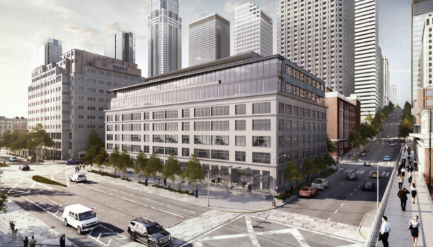 A rendering of the Maritime Building, where Big Fish Games is moving its headquarters. Credit: NBBJ