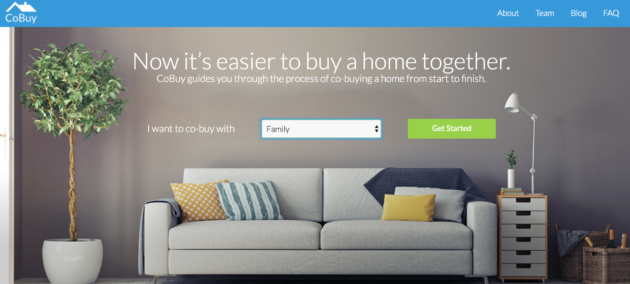 CoBuy lets family, friends and other groups go in on houses together. (Screenshot Via CoBuy)
