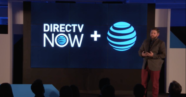 AT&T Chief Marketing Officer Brad Bentley discusses AT&T's new DirecTV Now service. (Photo Via Webcast)