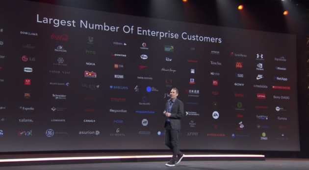 Via AWS livestream.