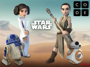 Hour of Code tutorials are developed by Code.org with partners, like Disney's Star Wars tutorial. (Hour of Code Image)