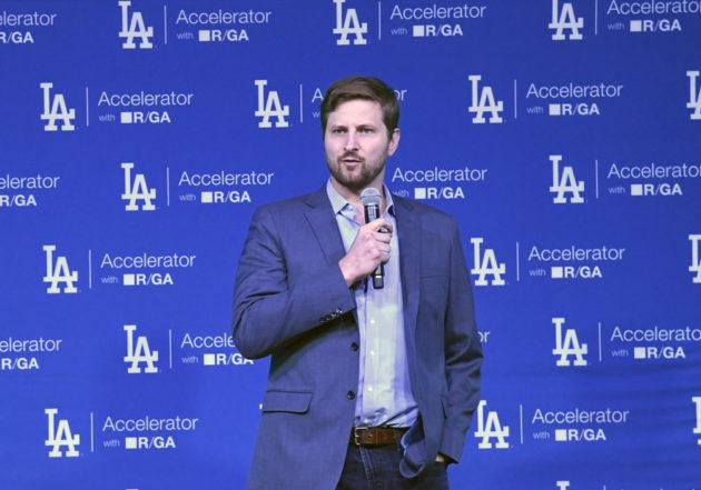 Dodgers CFO Tucker Kain. Photo via Dodgers.