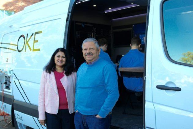 Voke co-founders Uma and Jay Jayaram. Photo via Intel.