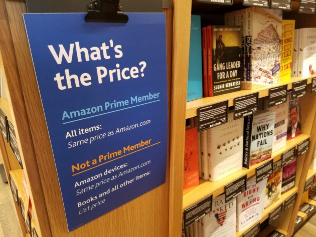 Amazon Charges Non-Prime Members More At Physical Bookstores
