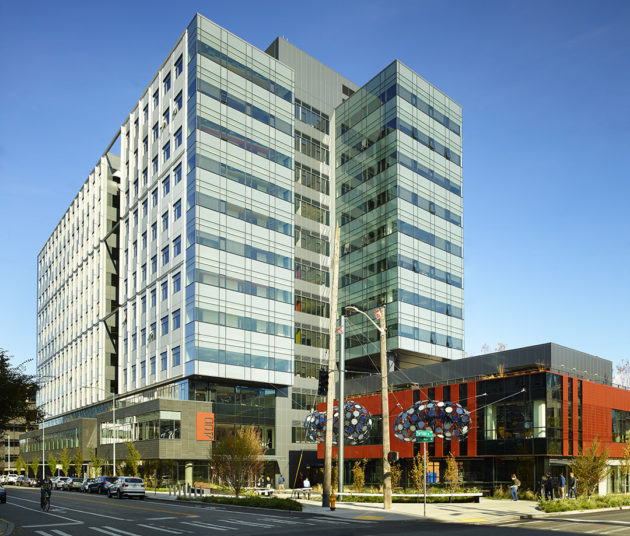 This 12-story office building is home to Amazon and just sold for $244M. (Vulcan Real Estate Photo)