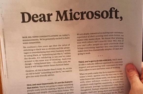 Slack's 'friendly advice' for Microsoft: Brilliant PR strategy or ...