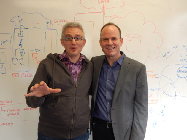Qumulo co-founder Peter Godman, left, and former Isilon executive Bill Richter, right. (Photo / Qumulo)