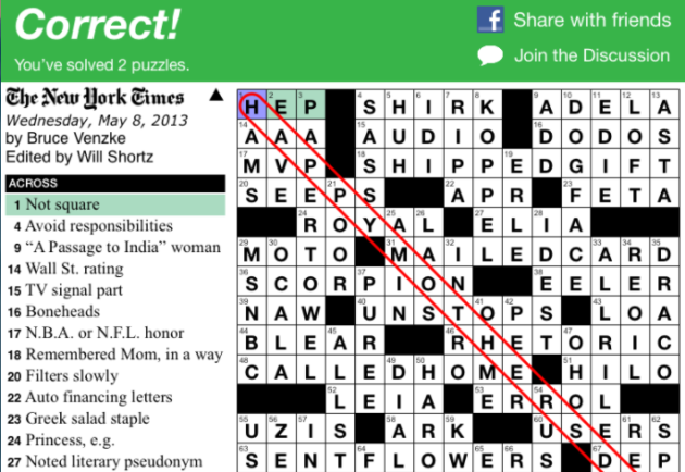 picture about Printable Ny Times Crossword Puzzles identified as How difficult is The Clean York Moments crossword? Startup reveals