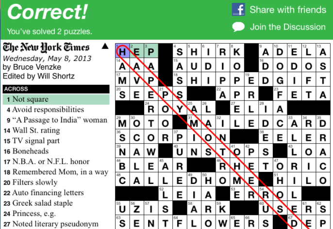 How Hard Is The New York Times Crossword? Startup Finds