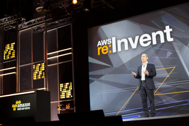 Amazon Web Services CEO Andy Jassy at the 2015 re:Invent conference. (Amazon Photo)