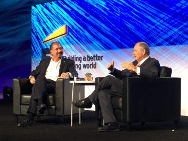 EY CEO interviews Steven Schwarzman. Photo: John Cook of GeekWire