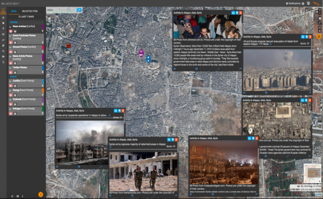 BlackSky platform shows Aleppo