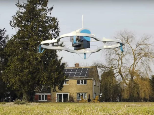 Drone landing in England