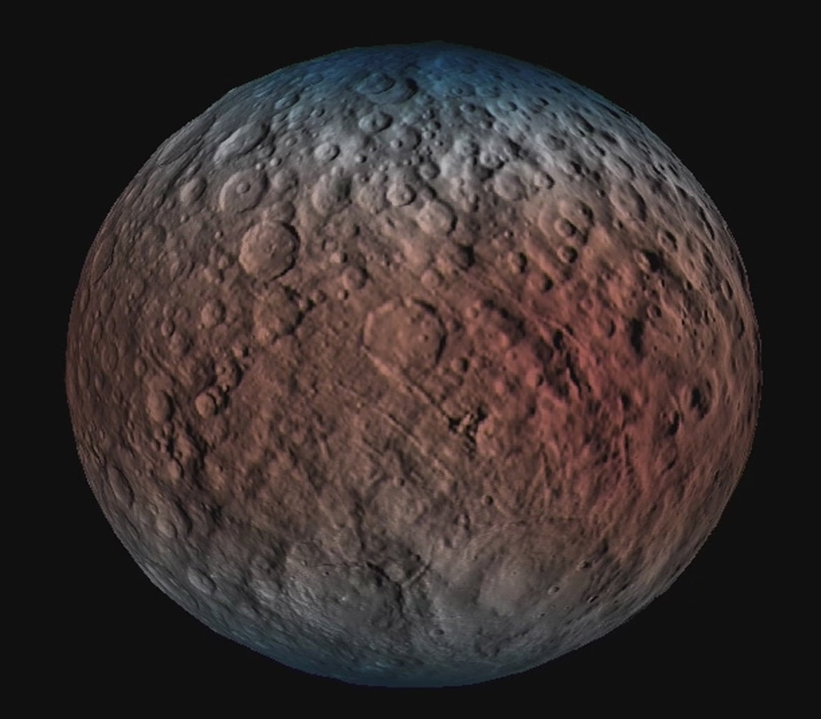 dawn detects water  water everywhere on dwarf planet ceres