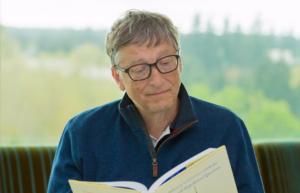 Bill Gates reading