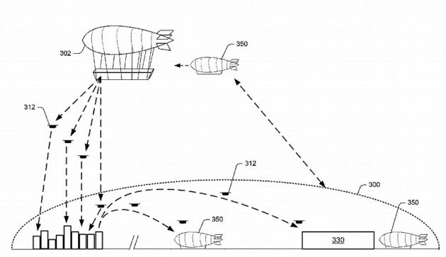 Amazon wants flying warehouses, patent shows