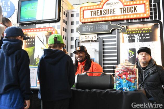 Marshawn Lynch - Amazon Treasure Truck