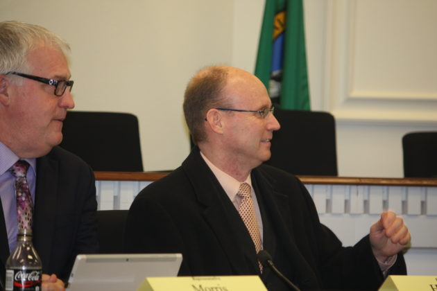 Reps. Jeff Morris, left and Zack Hudgins, right. (John Stang Photo)