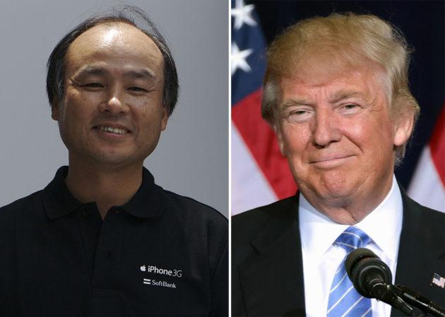 Masayoshi Son and Donald Trump. (Wikimedia Photos)