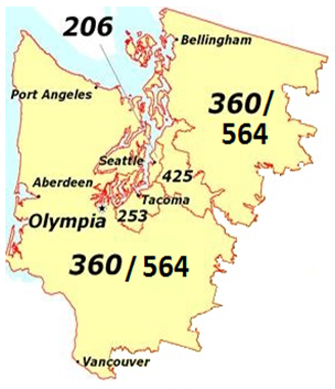 Washington state is getting a new area code in 2017: 564 – GeekWire
