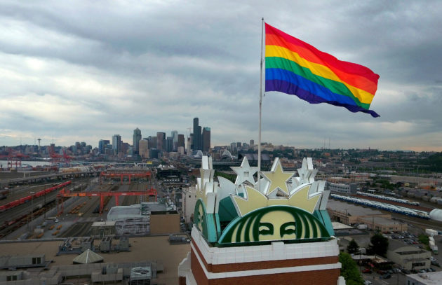 starbucks flag