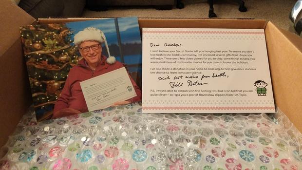 b4974869 Reddit user gets Bill Gates as her Secret Santa, and she's 'blown ...
