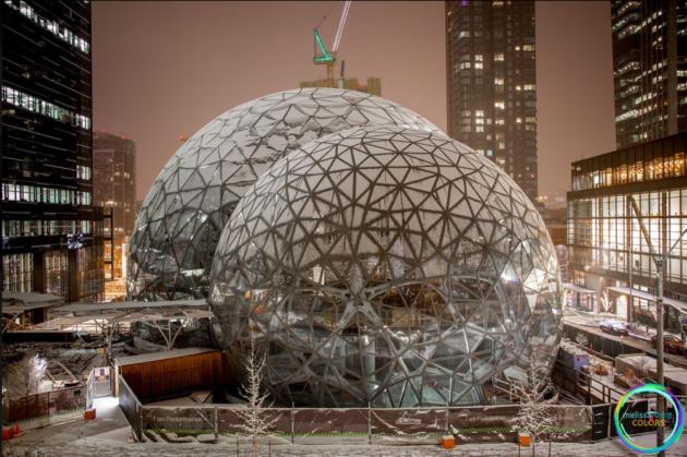 Biospheres snow