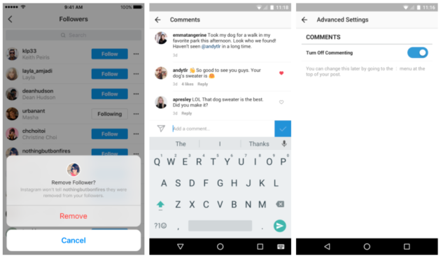 Instagram updates add another layer of safety with ability to remove instagram updates ccuart Choice Image