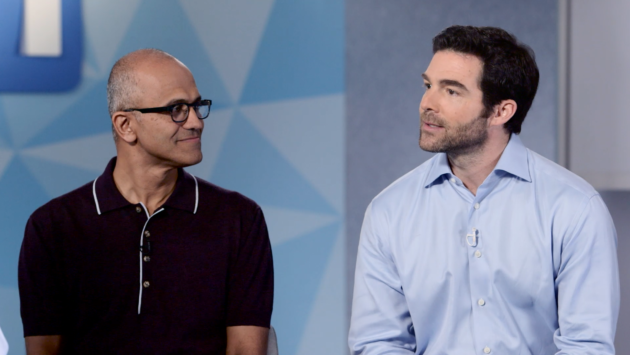 Microsoft CEO Satya Nadella and LinkedIn CEO Jeff Weiner. (Microsoft Photo)