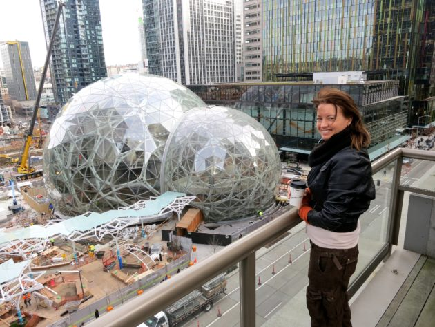 A room with a changing view: Seattle artist watches as Amazon grows ...