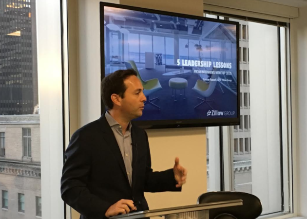 Zillow Group CEO Spencer Rascoff speaks at the Seattle Metro Chamber on Wednesday morning