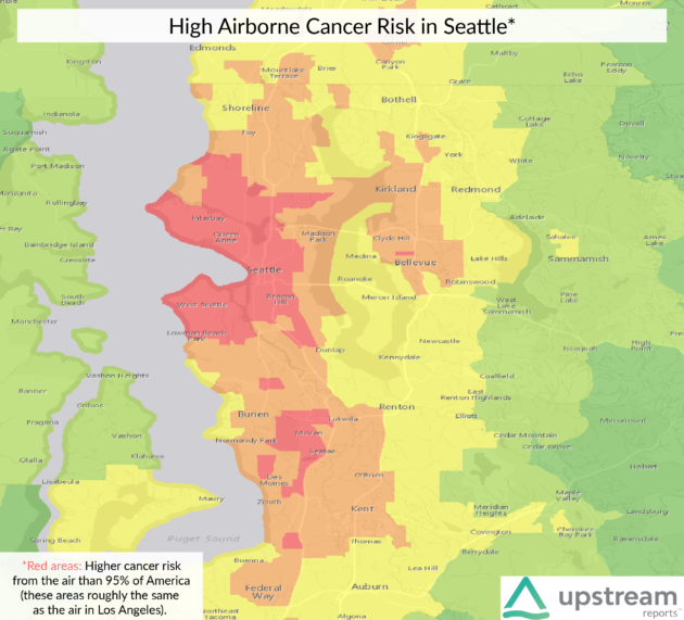 Could Your Neighborhood Give You Cancer Startup Uses Government - Seattle map neighborhood guide