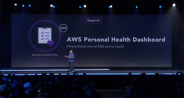 Werner Vogels introduces AWS Personal Health Dashboard at AWS re:invent