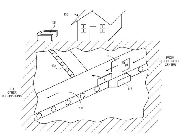 Amazon Wins Patent For Subterranean Package Delivery Network
