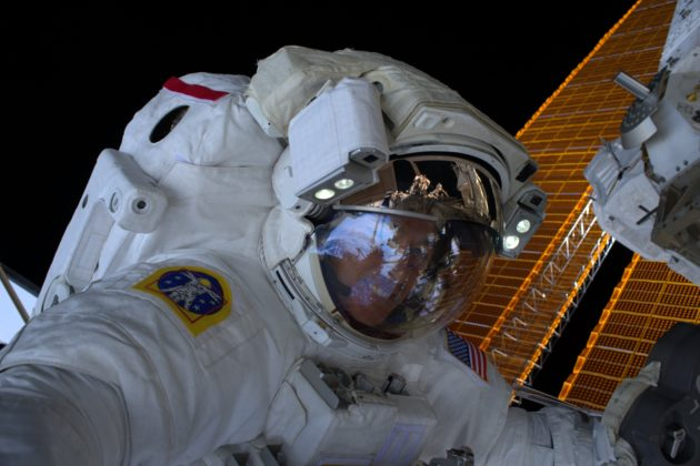 Iowa astronaut takes space walk