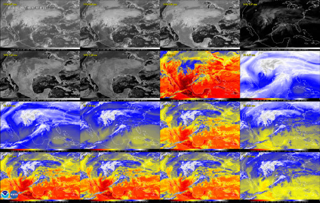 ABI channels on GOES-16