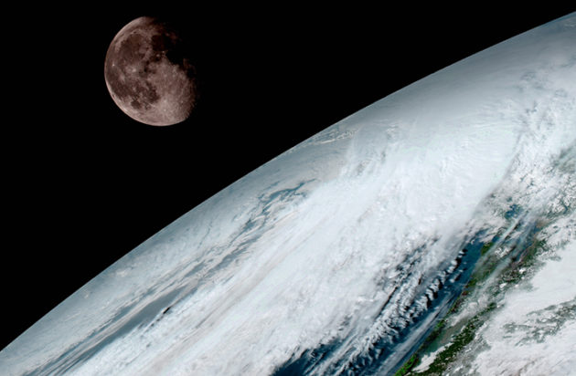 Moon as seen by GOES-16