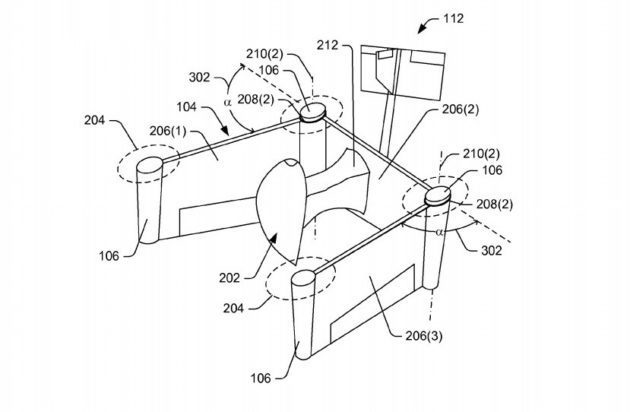 Amazons Latest Drone Patent Features Foldable Wings For Flippable