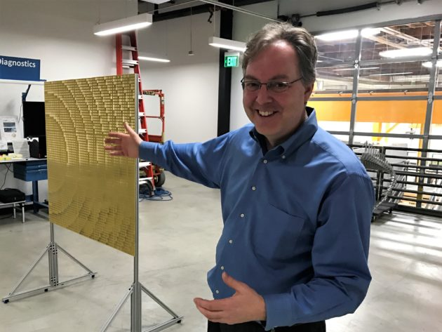 Russell Hannigan and reflector array