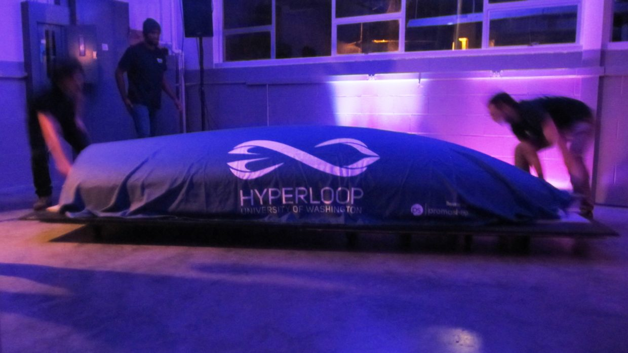 Hyperloop pod under wraps