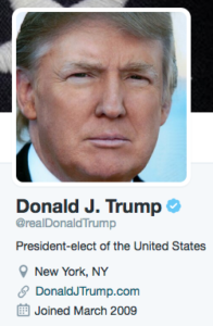 Trump Twitter feed