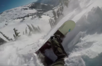 avalanche snowboarder