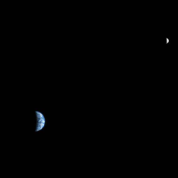 earth and moon 2007