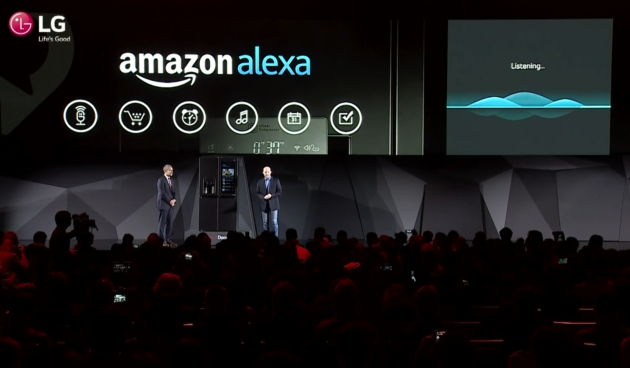 refrigerator amazon. talk to the fridge: lg will put amazon alexa in a refrigerator, letting users buy groceries via voice refrigerator w