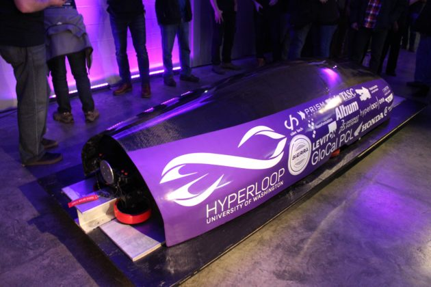 Purple pod for Hyperloop