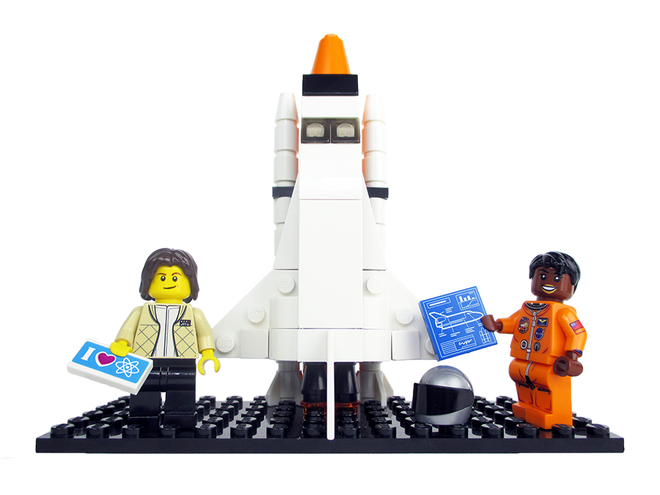 Lego Sally Ride and Mae Jemison